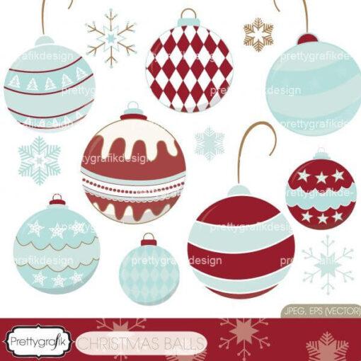 christmas balls clipart