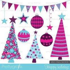Holiday christmas clipart commercial use - PGCLPK399