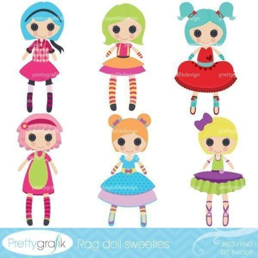 Rag doll toy clipart