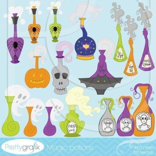 Halloween potions clipart commercial use - PGCLPK390