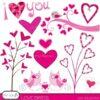 valentine hearts clipart commercial use - PGCLPK446