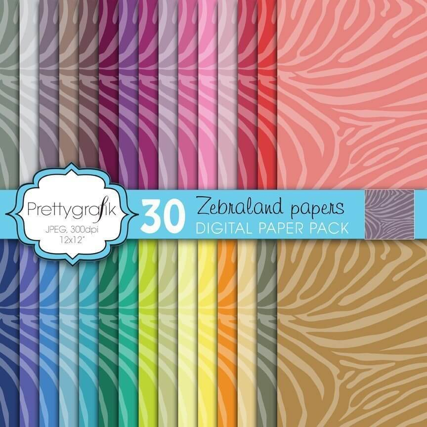 Zebra animal print papers