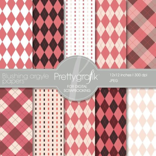 Pink argyle papers