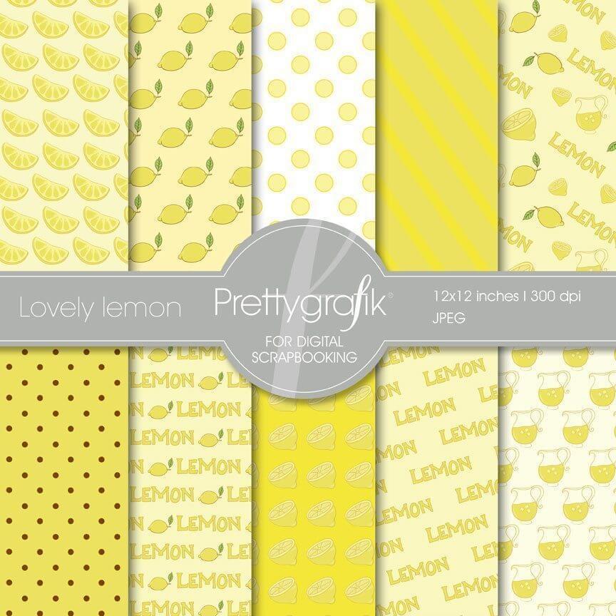 Lovely lemon papers