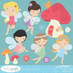 Woodland fairy clipart