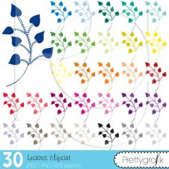 Flower leaves clipart