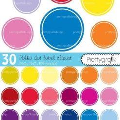 Polka dot label clipart