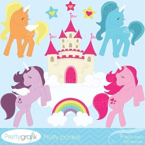 Pony unicorn clipart