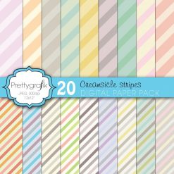 Creamsicle stripes papers