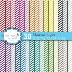 Mini stripes papers