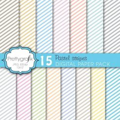 Chevron pastels papers