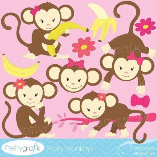 Monkey girl clipart