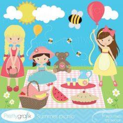 Summer picnic clipart