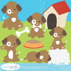 Puppy playground clipart