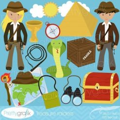 Treasure explorer clipart