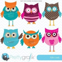 Mini owls clipart