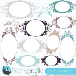 Labels and frames clipart