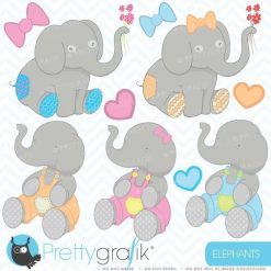 Elephants clipart