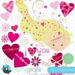 valentine girl clipart
