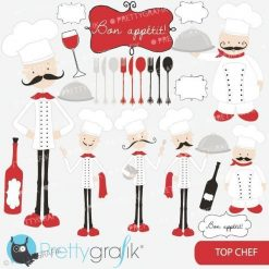 Chef kitchen clipart