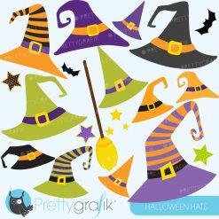Halloween hats clipart