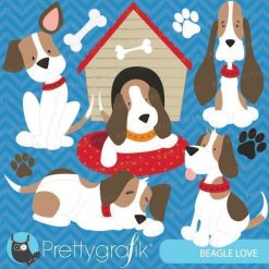 Beagle dog clipart