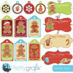 Gingerbread labels clipart