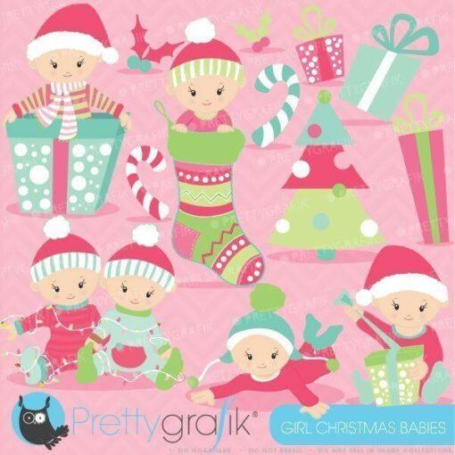 Christmas babies clipart