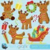 Rudolph reindeer clipart