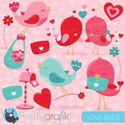 Valentine tweet clipart