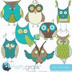 Green owl clipart