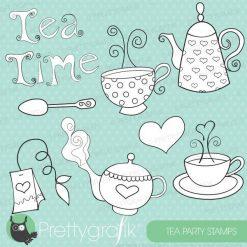 Tea set stamps