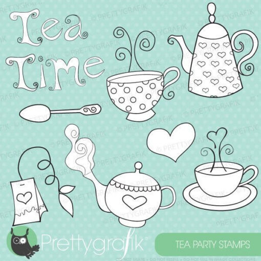 Tea set stamps