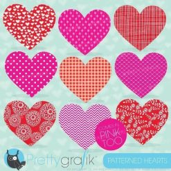 Pattern hearts clipart