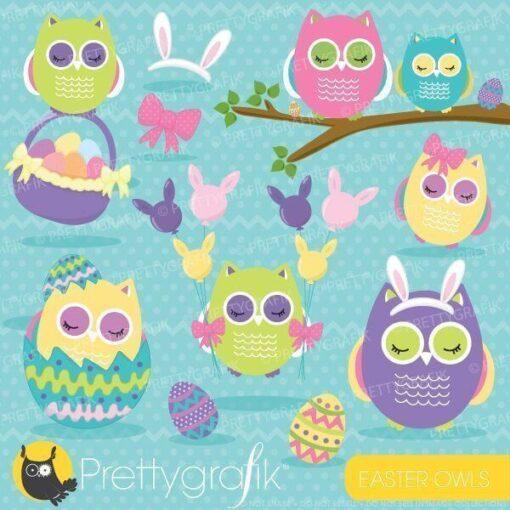 Easter owl clipart