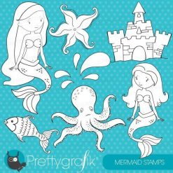 Mermaid stamps