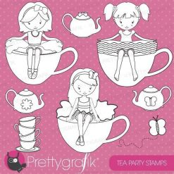 Tea girls stamps