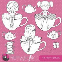 Tea girls stamps