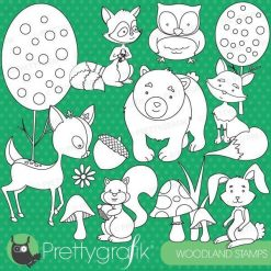 Woodland animals stamps