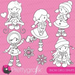 Snow girls stamps