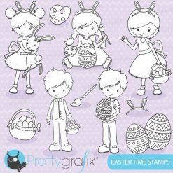 Easter kids stamps