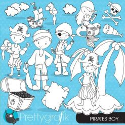 Pirate boy stamps