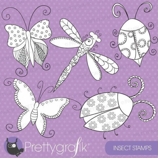Insect bugs stamps