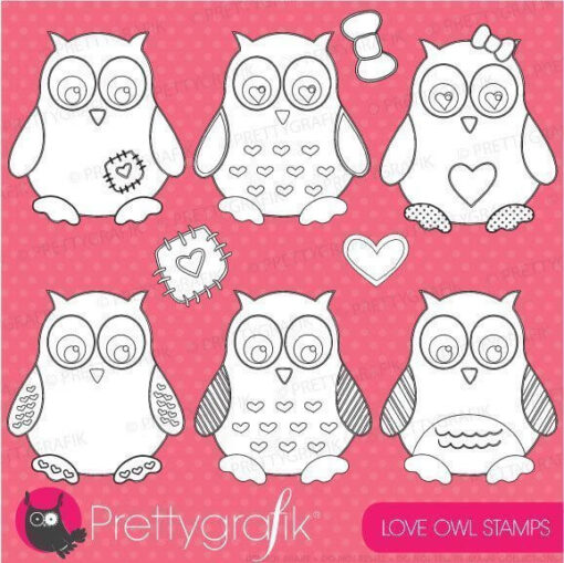Love owl stamps
