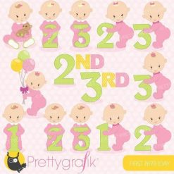 First birthday girl clipart