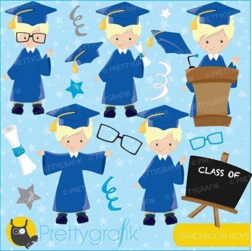 Boys graduation clipart
