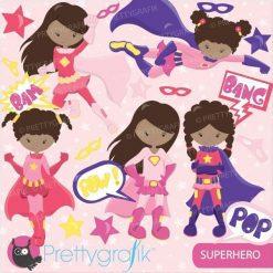 Superhero girls clipart