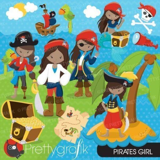 Pirate girl clipart