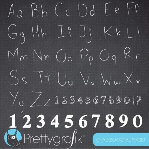 Alphabet chalkboard clipart