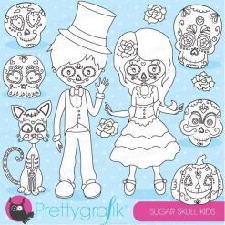 Sugar skull kids stamps